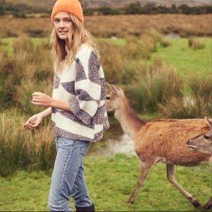 Anthropologie MOTH geo glitter sweater Sz M